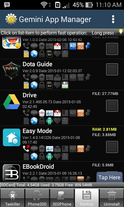Backup gemini app manager dolanandata.com